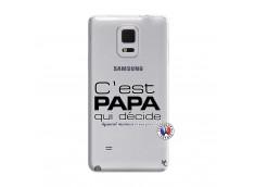 Coque Samsung Galaxy Note Edge C'est Papa Qui Décide Quand Maman n'est pas là