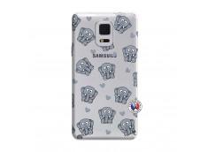 Coque Samsung Galaxy Note Edge Petits Elephants