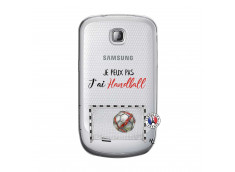 Coque Samsung Galaxy S Mini Je peux pas j'ai Handball
