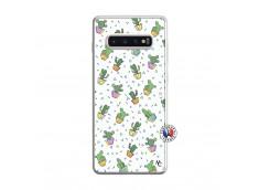 Coque Samsung Galaxy S10 Plus Le Monde Entier est un Cactus Translu