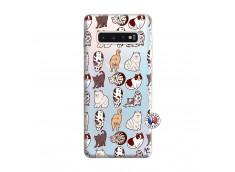 Coque Samsung Galaxy S10 Plus Cat Pattern