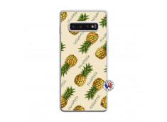 Coque Samsung Galaxy S10 Plus Sorbet Ananas Translu
