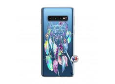 Coque Samsung Galaxy S10 Blue Painted Dreamcatcher