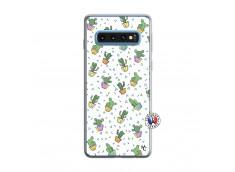 Coque Samsung Galaxy S10 Le Monde Entier est un Cactus Translu