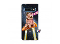 Coque Samsung Galaxy S10 Cat Pizza Translu