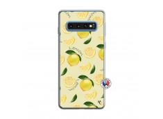 Coque Samsung Galaxy S10 Sorbet Citron Translu