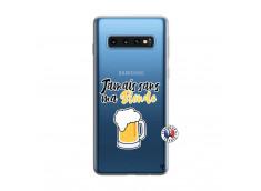 Coque Samsung Galaxy S10 Jamais Sans Ma Blonde