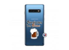 Coque Samsung Galaxy S10 Jamais Sans Ma Brune