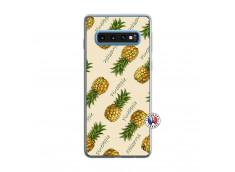 Coque Samsung Galaxy S10 Sorbet Ananas Translu