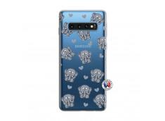Coque Samsung Galaxy S10 Petits Elephants