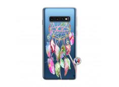 Coque Samsung Galaxy S10 Pink Painted Dreamcatcher