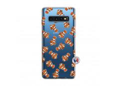 Coque Samsung Galaxy S10 Petits Poissons Clown