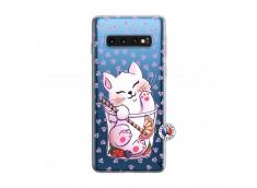 Coque Samsung Galaxy S10 Smoothie Cat