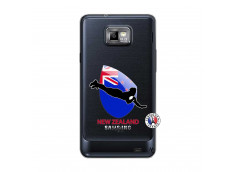 Coque Samsung Galaxy S2 Coupe du Monde Rugby- Nouvelle Zélande