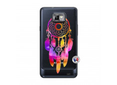 Coque Samsung Galaxy S2 Dreamcatcher Rainbow Feathers