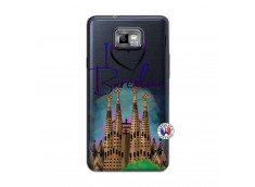 Coque Samsung Galaxy S2 I Love Barcelona