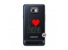 Coque Samsung Galaxy S2 I Love Papa