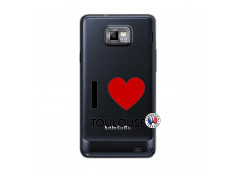 Coque Samsung Galaxy S2 I Love Toulouse