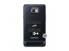 Coque Samsung Galaxy S2 Je Dribble Comme Cristiano