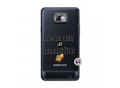 Coque Samsung Galaxy S2 Je M En Bas Les Cacahuetes