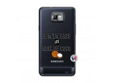 Coque Samsung Galaxy S2 Je m'en bats Les Noix De Coco