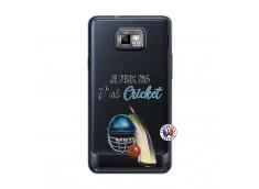 Coque Samsung Galaxy S2 Je peux pas j'ai cricket