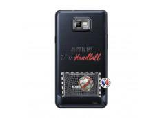 Coque Samsung Galaxy S2 Je peux pas j'ai Handball