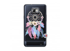 Coque Samsung Galaxy S2 Multicolor Watercolor Floral Dreamcatcher