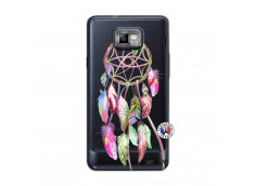 Coque Samsung Galaxy S2 Pink Painted Dreamcatcher