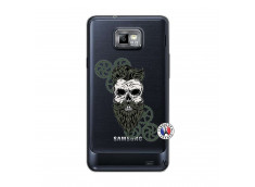 Coque Samsung Galaxy S2 Skull Hipster