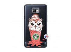 Coque Samsung Galaxy S2 Catpucino Ice Cream