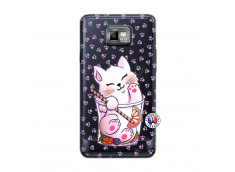 Coque Samsung Galaxy S2 Smoothie Cat
