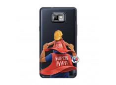 Coque Samsung Galaxy S2 Super Papa et Super Bébé