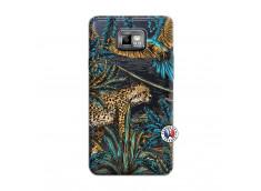 Coque Samsung Galaxy S2 Leopard Jungle