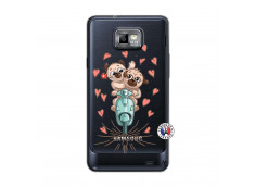Coque Samsung Galaxy S2 Puppies Love