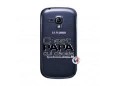 Coque Samsung Galaxy S3 Mini C'est Papa Qui Décide Quand Maman n'est pas là