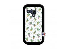 Coque Samsung Galaxy S3 Mini Le Monde Entier est un Cactus Noir