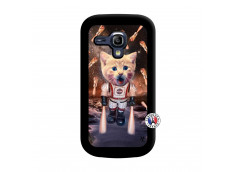 Coque Samsung Galaxy S3 Mini Cat Nasa Noir