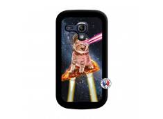 Coque Samsung Galaxy S3 Mini Cat Pizza Noir