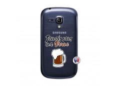 Coque Samsung Galaxy S3 Mini Jamais Sans Ma Brune