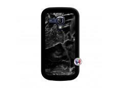 Coque Samsung Galaxy S3 Mini Black Marble Noir