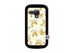 Coque Samsung Galaxy S3 Mini Sorbet Banana Split Noir