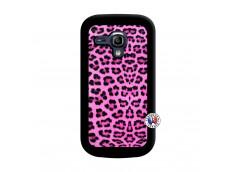 Coque Samsung Galaxy S3 Mini Pink Leopard Noir