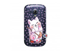 Coque Samsung Galaxy S3 Mini Smoothie Cat