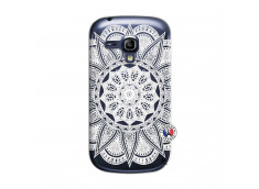 Coque Samsung Galaxy S3 Mini White Mandala