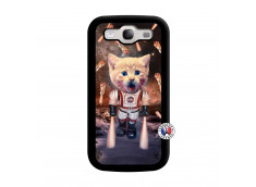 Coque Samsung Galaxy S3 Cat Nasa Noir