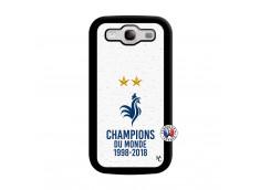 Coque Samsung Galaxy S3 Champion Du Monde Noir