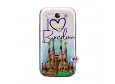 Coque Samsung Galaxy S3 I Love Barcelona