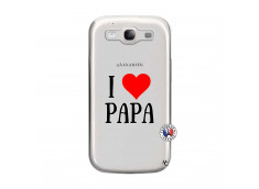 Coque Samsung Galaxy S3 I Love Papa