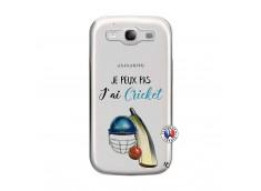Coque Samsung Galaxy S3 Je peux pas j'ai cricket